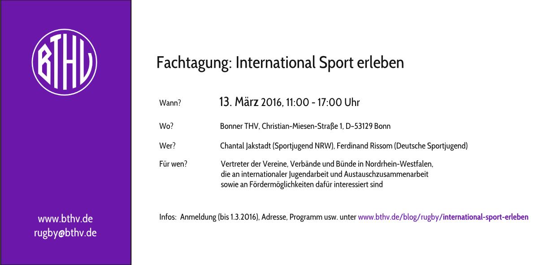 Fachtagung: International Sport erleben