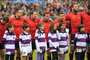 EM-Länderspiel Spanien-Deuschland 2016 mit BTHV-Kindern